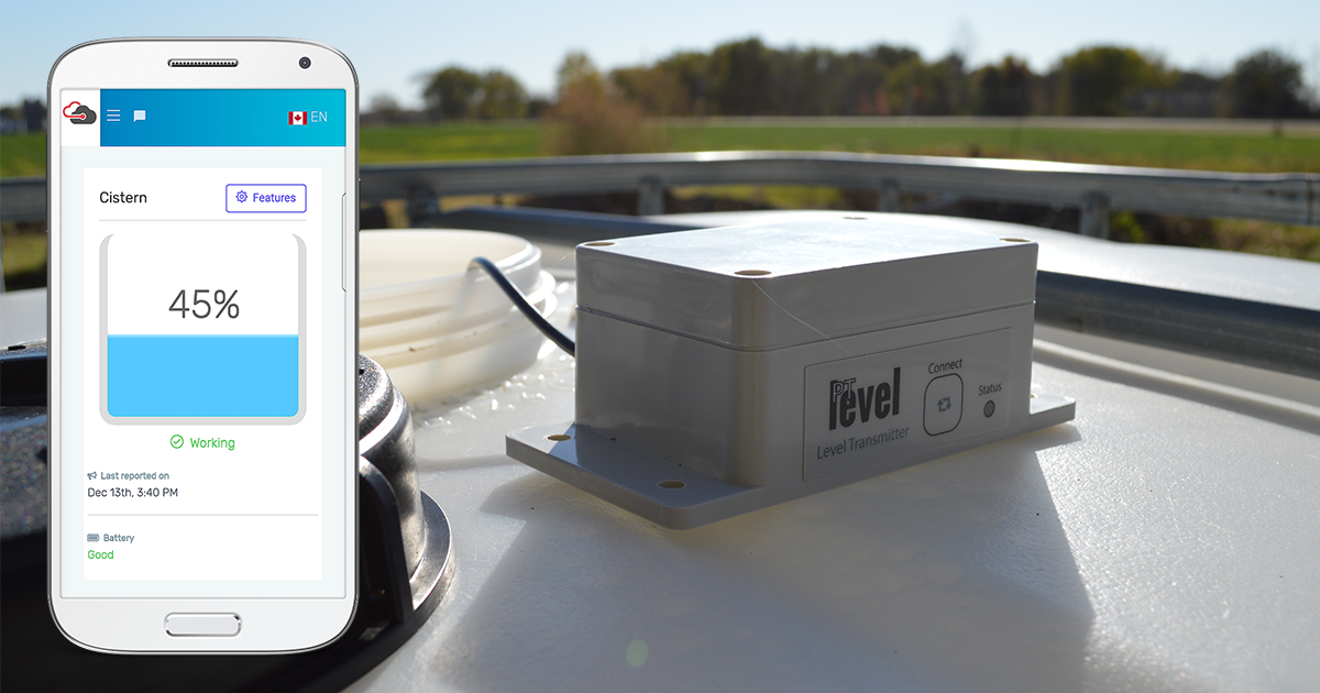 PTLevel - The ultimate liquid level monitor for your cistern